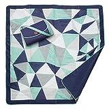 JJ Cole JJ Cole - All-Purpose Outdoor Baby Blanket, Lightweight & Water-Resistant, Fractal, 5' x 5'