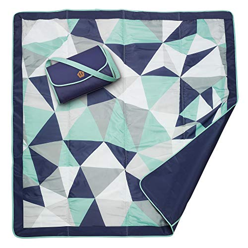 JJ Cole JJ Cole - All-Purpose Outdoor Baby Blanket, Lightweight & Water-Resistant, Fractal, 5' x 5'