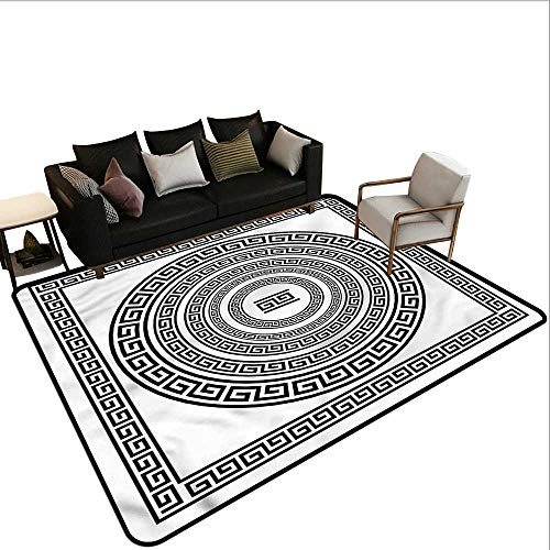 Greek Key,Large Floor Mats for Living Room 80