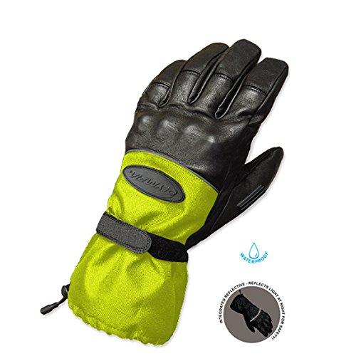 Olympia 4370 Cold Throttle All Season Gloves (Black/Hi-Viz, Large)