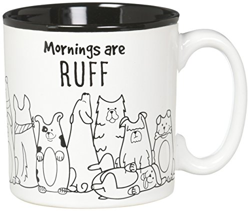 - Burton and Burton 9731707 Mornings are Ruff Ceramic Coffee Mug, 13 Ounce