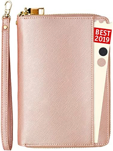 Passports Travel Document Organizer//Holder for ID//Credit Cards Real RFID Blocking Material Black Money Receipts Flight Tickets xperg Travel Passport Wallet with Multiple Pockets