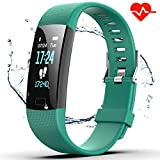 Fitness Tracker HR, Y1 Activity Tracker Watch with Heart Rate Monitor, Pedometer IP67 Waterproof Sleep Monitor Step Counter for Android & iPhone (Green)