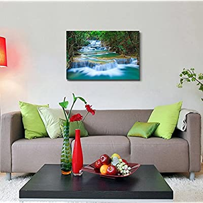 Deep Forest Waterfall in Thailand Wall Decor 24
