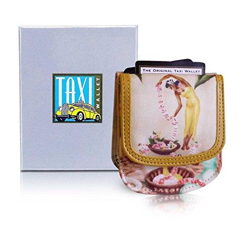 TAXI WALLET Hula Girls Small Vegan Folding Minimalist Card Womens Wallet + Coin (Hula Purse)