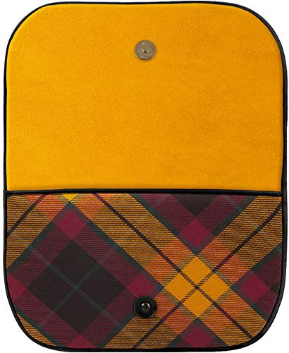 Tartan Clutch Large Leather With and Inside Bag Pocket With Back MacMillan x1UXqURw