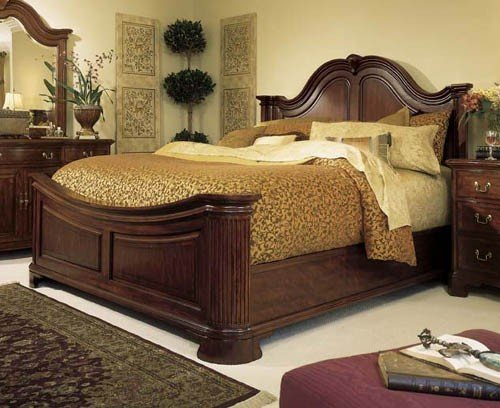 American Drew Cherry Grove Mansion Bed - King American Drew Bed
