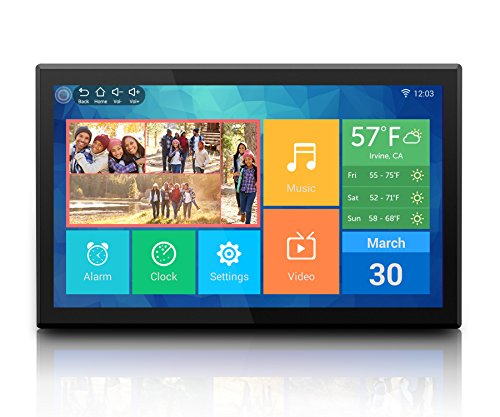 "Aluratek (AWDMPF117F) 17.3"" Hi-Res WiFi Digital Photo Frame with Touchscreen IPS LCD Display & 8GB Built-in Memory (1920 x 1080 Resolution), Photo/Music/Video Support, Wall Mountable For Sale"