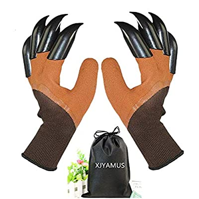 XJYAMUS Garden Genie Gloves Gardening Gloves with Claw Garden Gloves with Fingertips for Digging Planting As Seen on TV - Best Gardening Tools - Best Gardening Gift for Mom and Dad
