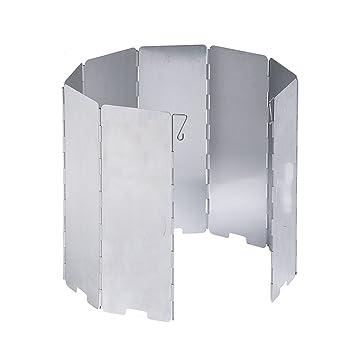 GONGYU - Estufa de Exterior Resistente al Viento Parabrisas Plegable Portátil Tipo Tarjeta hornos Parabrisas Equipo de Picnic: Amazon.es: Deportes y aire ...