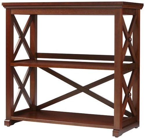 """Home Decorators Collection Brexley Two Shelf Bookcase, Short Bookcase, Chestnut - 30.75""""H x 31.75""""W x 14.25""""D. Space between bottom and middle shelf: 12.75"""". Space between middle and top shelf: 13.5"""". - living-room-furniture, living-room, bookcases-bookshelves - 517qyC8J9DL -"""