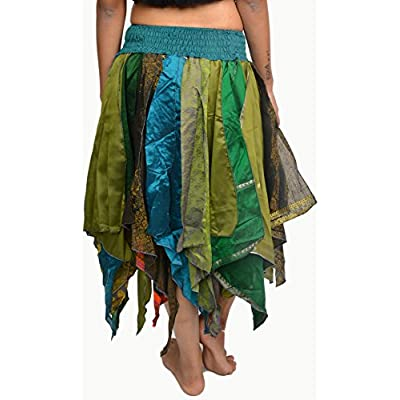 Wevez Women's Tribal Leaves Style Skirt Pack of 3, One Size, Assorted at Women's Clothing store
