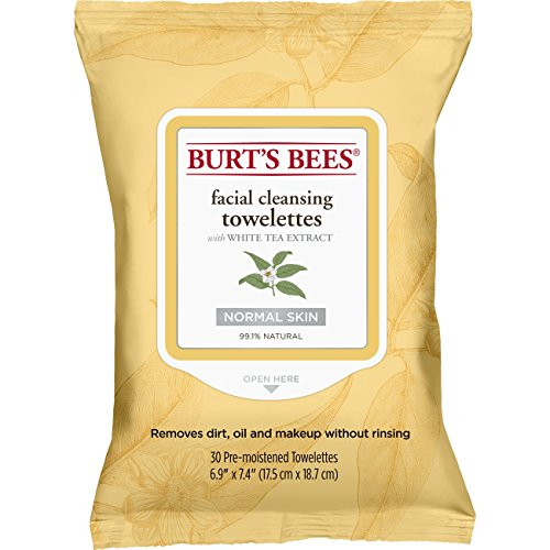 Burt'S Bees Facial Cleansing Towelettes With White Tea Extra