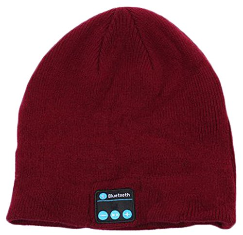 6e464458 Amazon.com: iSuperb Cool Bluetooth Wireless Music Beanie Hat With  Microphone & Stereo Headphone Hands Free, Best Christmas Gift (Bluetooth  Beanie Wine Red): ...
