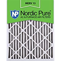 Nordic Pure 16x24x2M13-3 16x24x2 MERV 13 Pleated AC Furnace Air Filter, Box of 3, 2-Inch