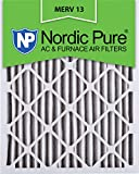 Nordic Pure 16x25x2M13-3 16x25x2 MERV 13 Pleated AC Furnace Air Filter, Box of 3, 2-Inch