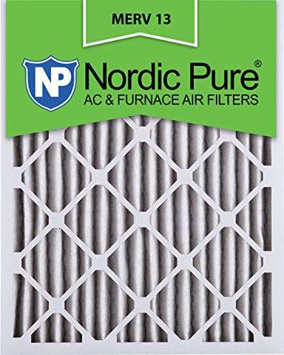Nordic Pure 14x20x2M13-3 14x20x2 MERV 13 Pleated AC Furnace Air Filter, Box of 3, 2-Inch