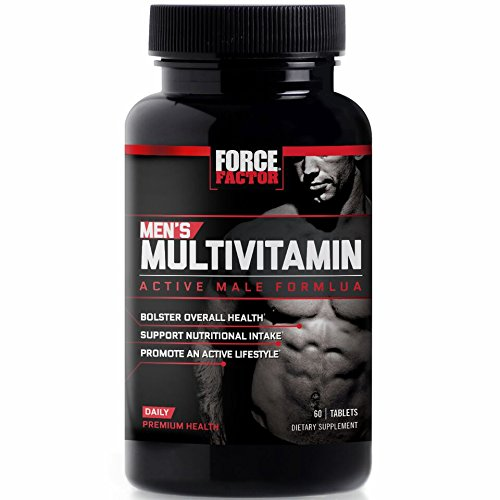 Men's Multivitamin, Daily Vitamins and Minerals for Active Men's Health, Performance Formula for Better Nutrition, Force Factor, 60 (Active Mens Multivitamin)