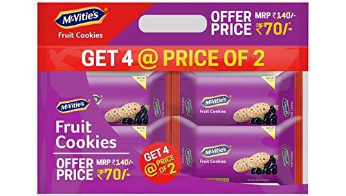 Mcvities Fruit Cookies Combi 2+2, 300gm, (Pack of 4)