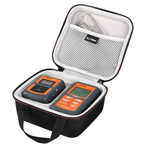 LTGEM for ThermoPro TP-07 / TP-08 Wireless Remote Digital Kitchen Cooking Meat Thermometer EVA Hard Case Travel Protective Carrying Storage Bag (Eva 07)