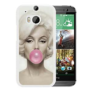 For HTC ONE M8,Marilyn Monroe 3 White Protective Case For HTC ONE M8
