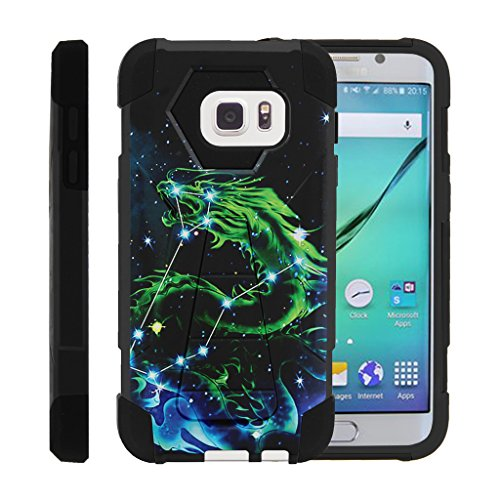 Galaxy S7, Dual Layer Shell SHOCK Impact Kickstand Case with Unique Graphic Images Samsung S7 by Miniturtle® - Dragon Constellation (Dragon Phone)