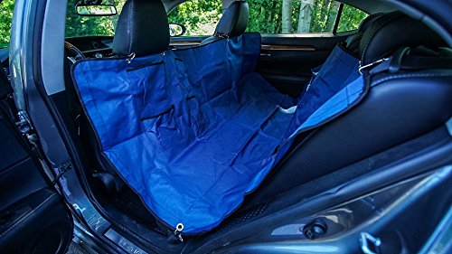 DURABLE PET BACK SEAT COVER - By Smart Dog's Choice, Nonslip and Waterproof, Hammock Capable, Extra Durable Triple Reinforced Oxford Material, 'Traveling With Your Dog' Ebook Included