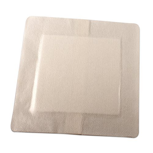 """Dynarex DynaGuard - Waterproof Cover Composite Wound Dressings - Sterile - Large 6""""x6"""" - 10 Count"""