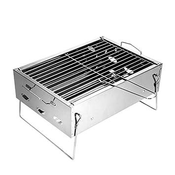 ILUVBBQ Pequeño Tipo Plegable asadores de carbón para ...