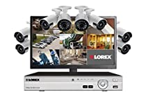 lorex Security system with 8 HD 1080p ultra wide angle cameras and monitor