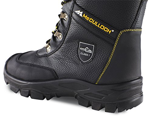 Chainsaw CLO044 Boots 44 Protective Leather Size McCulloch 5zvq0