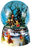 Musicbox World 46070 Snow Globe Ice Skater Playing Ice Skater
