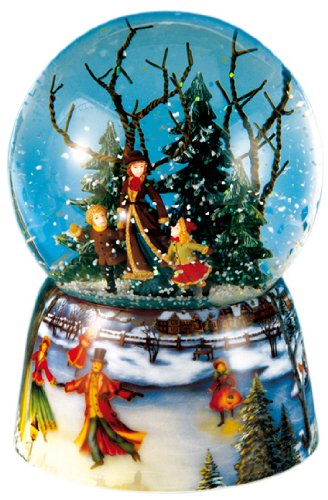 MusicBox Kingdom 46070 Snow Globe Ice Skater Music Box Playing Ice Skater
