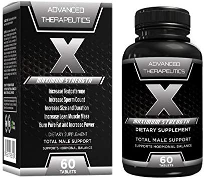 X Male Testosterone Booster for Men and Men s Fertility Supplement .Increase Sperm Count,Sperm Motility, Bedroom Performance, and Burn Pure Belly Fat as an Added Bonus.All in one Men s Supplement
