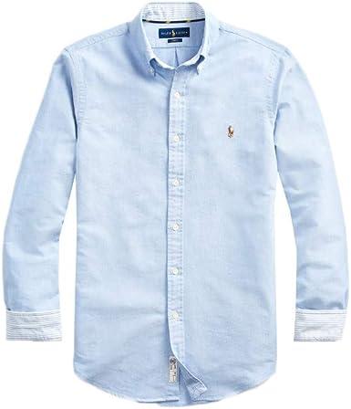 Ralph Lauren - Camisa para hombre, color azul: Amazon.es: Ropa y accesorios