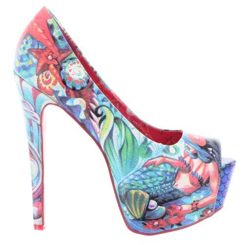 Iron Fist - Zapatos de vestir de material sintético para mujer azul azul azul - azul