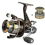 Goture GTM3000 Live Bait Carp Spinning Fishing Reel Bass With Dual Brake Includes Aluminum Spare Spool