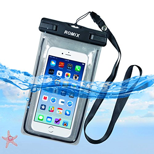 Universal Waterproof Case,besthoby waterproof phone pouch,for iPhone 8/7/plus/6/6S Plus/5/5s/5c Galaxy S7/S7 Edge/S6/S5/S4 Note 4/3 LG G5/G3 Up To 5.5 (black)