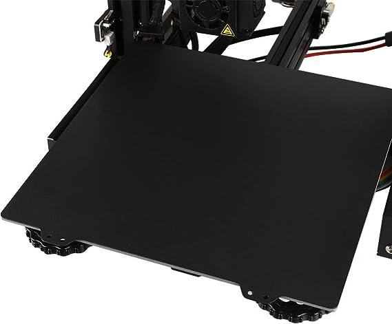 Creality CR-10 3D-Drucker Gute Qualit/ät 310 x 310 mm CR10 Flexible doppelseitig strukturierte PEI Federstahlblech LayerLock PEI pulverbeschichtete Bauplatte f/ür BLV MGN Cube