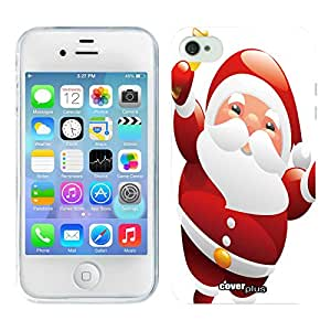 COVER PLUS Apple iPhone 4S 5 5S 5C 6 Santa Claus Christmas Gift Hard Back Case (Red/iPhone 4/4S)