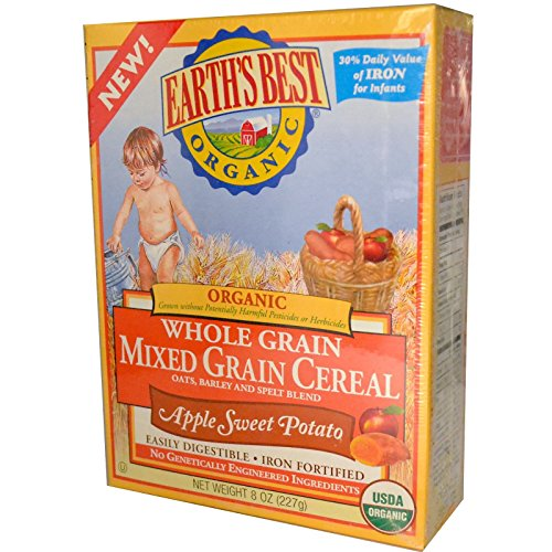 Earth's Best, Earth's Best Organic Mixed Grain Apple Sweet Potato Cereal, 8 oz