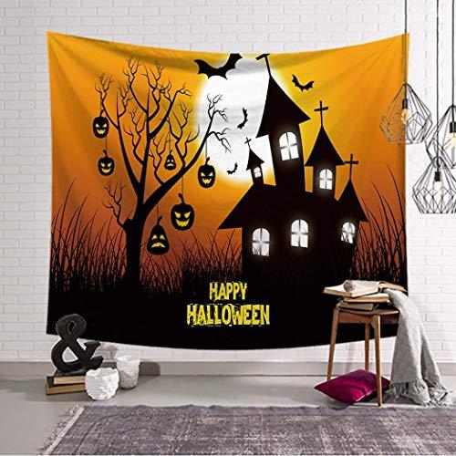 YJYDADA Sugar Skull Tapestry Halloween Trick Treat Horror Ghost Wall Hanging Home Decor, 93X75cm (A) -