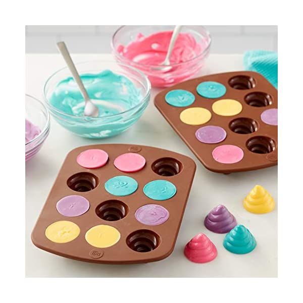 ROSANNA PANSINO by Wilton 12-Cavity Silicone Swirl Candy Molds, Multi-pack of 2 6