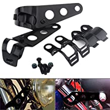 Moyishi Metal Motorcycle Modified Turn Signal Light Indicator Mount Bracket Clamp 30-37mm Black