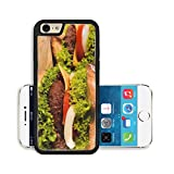 Liili Premium Apple iPhone 6 iPhone 6S Aluminum Backplate Bumper Snap Case Image ID 23453223 Close up to cheeseburger Selective focus on the front beef meat