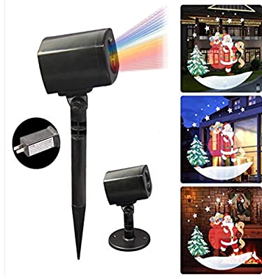 4Home Christmas Led Projector Light - Colorful - Festive & Fun - Santa Claus - Two Different Images - Indoor/Outdoor - Waterproof - Automatic Timer