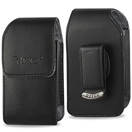Vertical Leather Case with Magnetic closure with belt clip for Consumer  Cellular Doro Phone Easy 626