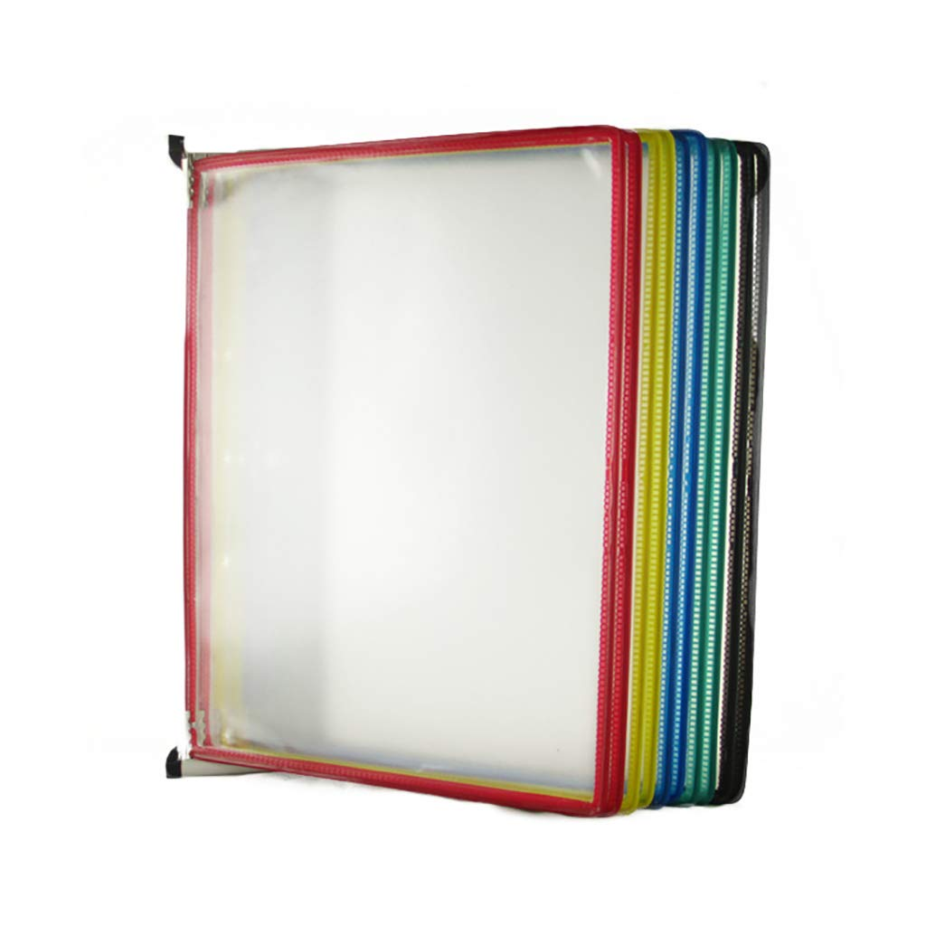 Flip File Holder, Wall-Mounted Magnetic Display (PVC+Metal) (Size : 10 Pages)