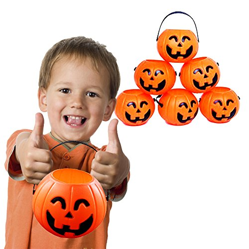 Toy Cubby 2 ½ Inches Mini Pumpkin Treats and Sweets Holder with Handles - 12 - 12 O-lantern Jack