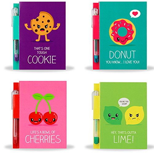 Scentco Sketch & Sniff Note Pad Bundle - Lemon Lime, Cherry, Cookie, and Donut Scented Covers by Scentco